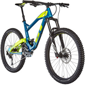 GT Bicycles Force Carbon Expert täysjousitettu MTB 27,5 , keltainen/sininen